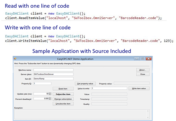 OPC DA Sample Application with Source Code