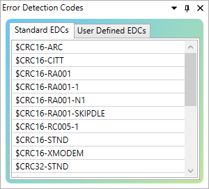Drag-and-drop Standard and Custom Error Detection Codes